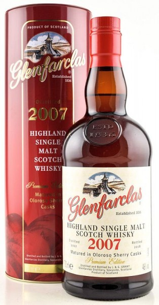 Glenfarclas Highland Single Malt Scotch Premium Edition Vintage 2007