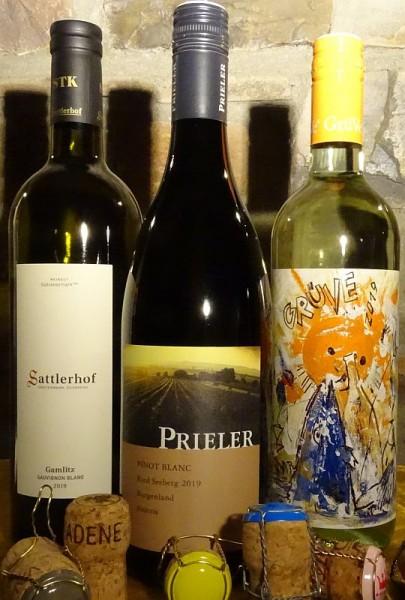ÖSTERREICH Weiss - 3 Flaschen - Veltliner-Sauvignon & Pinot Blanc