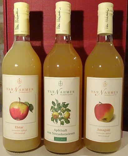 SAFTKISTE mit 3 verschiedenen Apfelsäften von van Nahmen