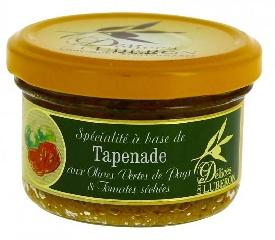 Tapenade aus grünen Oliven und getrockneten Tomaten 90g