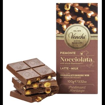 Nocciolata - Vollmilchschokolade mit ganzen Haselnüssen 100g