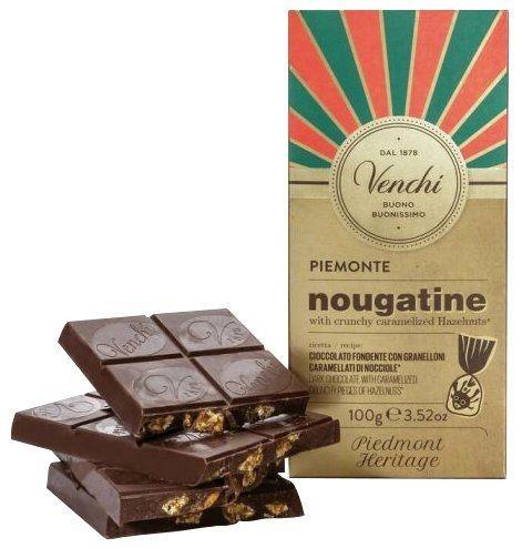 Nougatine Bar - Zartbitterschokolade mit Haselnuss 100g
