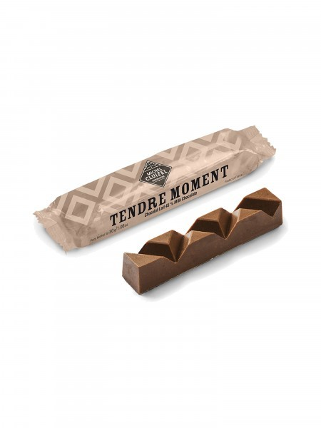 Schokoladenriegel mit Praline und Haselnuss 30g