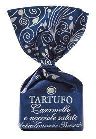 Tartufi dolci mit gerösteten, gesalzenen Haselnüssen und Karamell