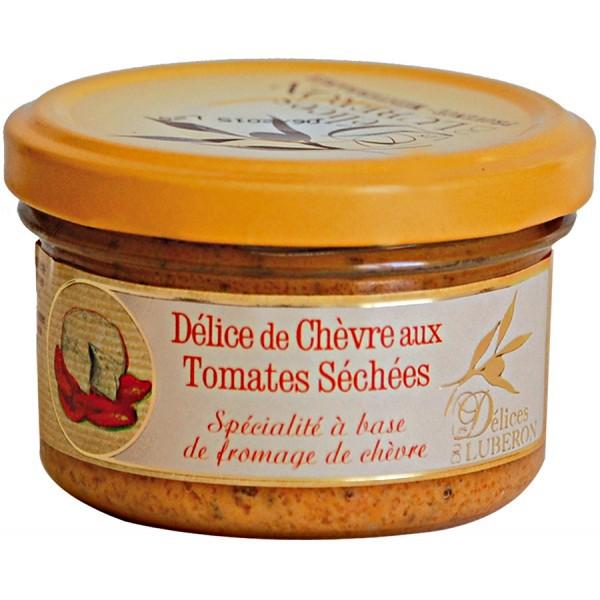 Ziegenfrischkäse mit getrockneten Tomaten