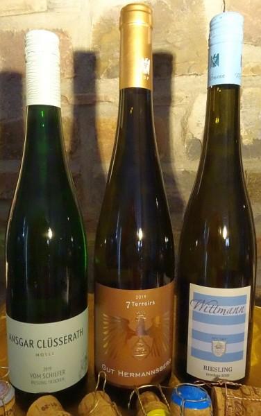 RIESLING X 3 - Klasse Rieslinge von 3 Weingütern