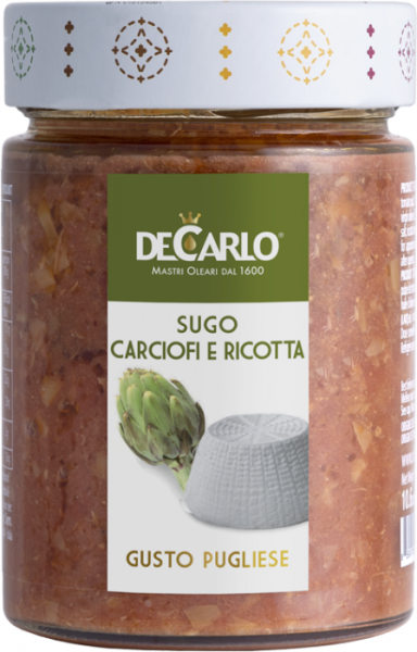 Sugo Carciofi e Ricotta - Artischockensauce mit Ricotta 300g