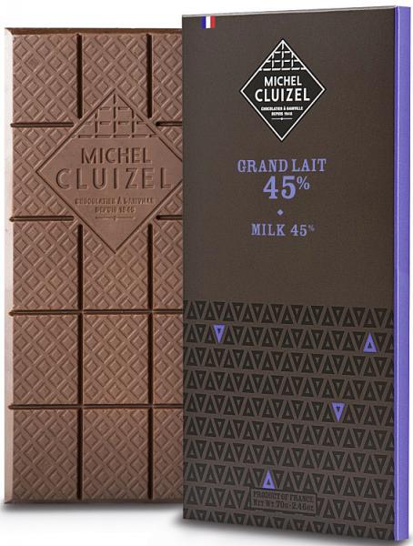 Milchschokolade Grand Lait 45% Kakaoanteil 70g
