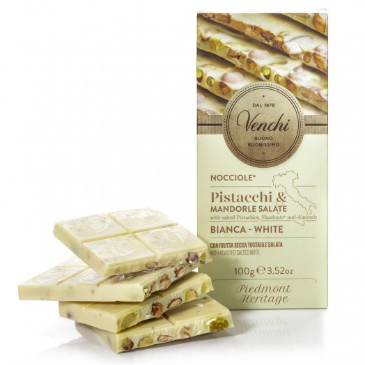 Weisse Schokolade mit gesalzenen Nüssen 100g
