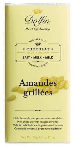 Vollmilchschokolade mit gerösteten Mandeln